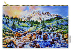 Carry-all Pouch featuring the painting Symphony Of Silence by Hanne Lore Koehler