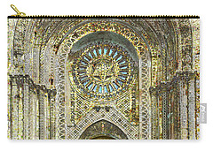Carry-all Pouch featuring the mixed media Synagogue by Tony Rubino