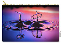 Carry-all Pouch featuring the photograph Synchronized Liquid Art by William Lee