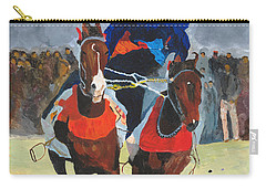 Carry-all Pouch featuring the painting Syncronizing by Rodney Campbell