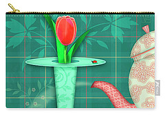 T Is For Two Tulips With Tea Carry-all Pouch