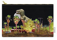 T-rex In The Desert Night Carry-all Pouch