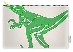 T-rex Carry-all Pouch by Linda Woods