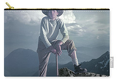Carry-all Pouch featuring the photograph T104800 Ed Cooper On First Climb Pinnacle Peak Wa 1953 by Ed Cooper Photography