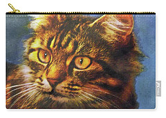 Tabby Blue Carry-all Pouch