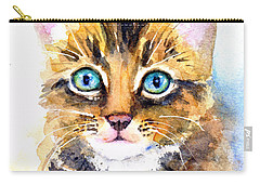 Tabby Kitten Watercolor Carry-all Pouch