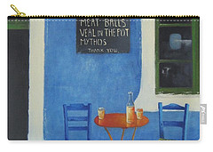 Table For Two Greece Carry-all Pouch by Joe Gilronan