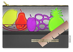 Carry-all Pouch featuring the photograph Table Fruits by Tina M Wenger