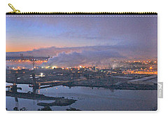 Carry-all Pouch featuring the photograph Tacoma Dawn Panorama by Sean Griffin