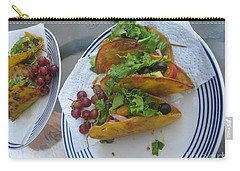 Carry-all Pouch featuring the photograph Tacos Almost Mirrored by Marie Neder