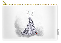 Carry-all Pouch featuring the digital art Taffeta Gown by Cindy Garber Iverson