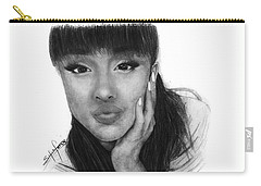 Ariana Grande Drawing By Sofia Furniel Carry-all Pouch by Sofia Furniel