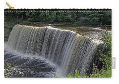 Tahquamenon Upper Falls 4 Carry-all Pouch by Mary Bedy