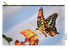 Tail Jay On Scarlet Milkweed Carry-all Pouch