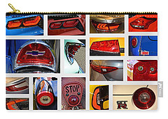 Tail Light Collage Number 1 Carry-all Pouch by Mike Martin
