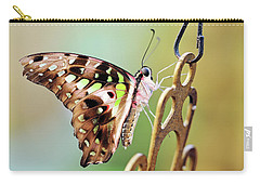 Carry-all Pouch featuring the photograph Tailed Jay by Grant Glendinning