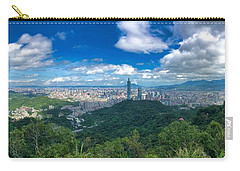 Carry-all Pouch featuring the photograph Taipei Panorama by Brian Eberly
