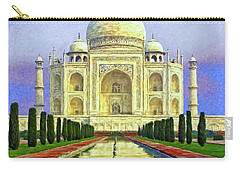 Taj Mahal Morning Carry-all Pouch by Dominic Piperata