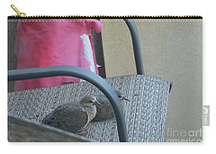 Carry-all Pouch featuring the photograph Take A Seat by Anne Rodkin