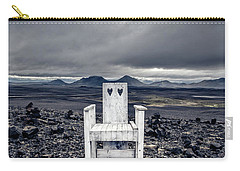 Carry-all Pouch featuring the photograph Take A Seat Iceland by Edward Fielding