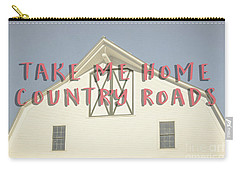Carry-all Pouch featuring the photograph Take Me Home Country Roads by Edward Fielding