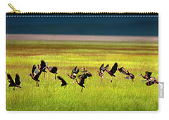 Carry-all Pouch featuring the photograph Take Off by Leland D Howard
