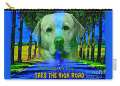 Carry-all Pouch featuring the digital art Take The High Road by Kathy Tarochione