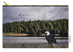 Carry-all Pouch featuring the photograph Taking A Break As Evening Falls by Diane Schuster