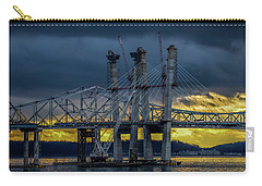 Tale Of 2 Bridges At Sunset Carry-all Pouch by Jeffrey Friedkin
