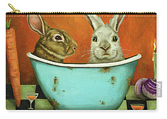 Tale Of Two Bunnies Carry-all Pouch by Leah Saulnier The Painting Maniac