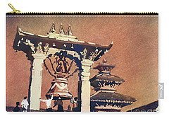 Carry-all Pouch featuring the painting Taleju Bell- Patan, Nepal by Ryan Fox