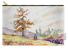Carry-all Pouch featuring the painting Talking To Dad by Sam Sidders