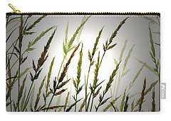 Carry-all Pouch featuring the digital art Tall Grass And Sunlight by James Williamson