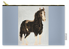 Carry-all Pouch featuring the painting Tall Horse by Donald J Ryker III