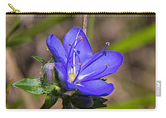 Tall Hydrolea Wildflower Carry-all Pouch