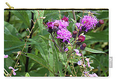 Carry-all Pouch featuring the photograph Tall Ironweed by Scott Kingery