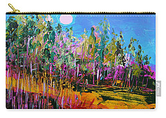Carry-all Pouch featuring the painting Tall Left And Front by John Williams