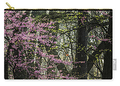 Tall Red Buds In Spring Carry-all Pouch by Joni Eskridge