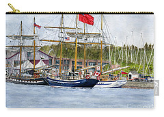 Carry-all Pouch featuring the painting Tall Ships Festival by Melly Terpening