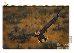 Carry-all Pouch featuring the photograph Talons At The Ready-signed by J L Woody Wooden