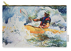 Carry-all Pouch featuring the painting Taming Of The Chute by Hanne Lore Koehler