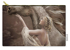 Carry-all Pouch featuring the digital art Taming The Wild Spirit by Melinda Hughes-Berland