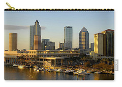 Tampa Bay And Gasparilla Carry-all Pouch by David Lee Thompson