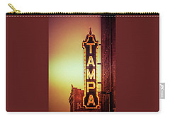 Carry-all Pouch featuring the photograph Tampa Theatre by Carolyn Marshall