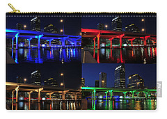 Carry-all Pouch featuring the photograph Tampa's Colorful Bridges by David Lee Thompson