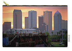 Tampa's Skyline From The Port Carry-all Pouch