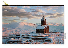 Tanahat Monastery At Sunset In Winter, Armenia Carry-all Pouch