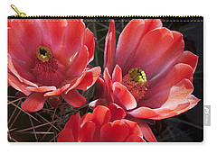 Carry-all Pouch featuring the photograph Tangerine Cactus Flower by Phyllis Denton