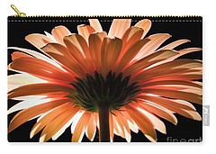Tangerine Gerber Daisy Carry-all Pouch