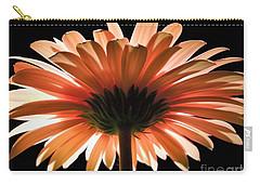 Tangerine Gerber Daisy Carry-all Pouch